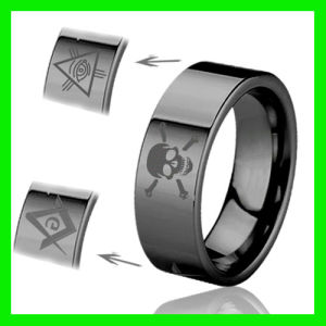Black Skull Masonic Ring