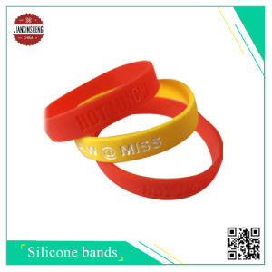 Debossed or Color Filled Silicone Wristband for Promotion pictures & photos
