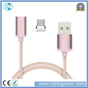 Universal Nylon Braided Magnetic USB Charger Data Transfer Cable for Android pictures & photos