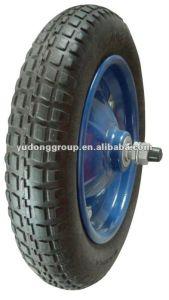 PU Polyurethane Foam Wheelbarrow Tire, Rubber Wheel 13′′x3.25-8 pictures & photos
