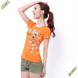 Fashion High Quality Printing Women T Shirt Factory pictures & photos