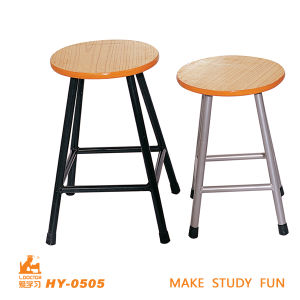 School Wood Lab Chairs with Steel Tube of Studying Furniture pictures & photos