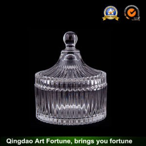 Hot Sale Glass Candle Jar with Lid Supplier Food Storage pictures & photos