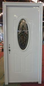Steel Door with Glass Designs