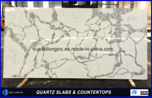 Calacatta Quartz Slab for Kitchen Countertop/ Bathroom Top/ Table Top/ Bar Top/ Solid Surface/ Building Material pictures & photos