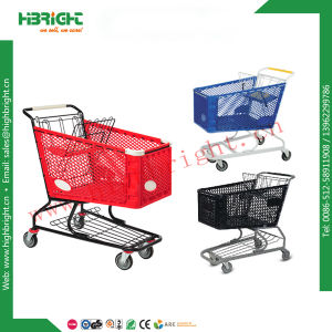 Supermarket Grocery Plastic 180L Shopping Cart Trolley pictures & photos