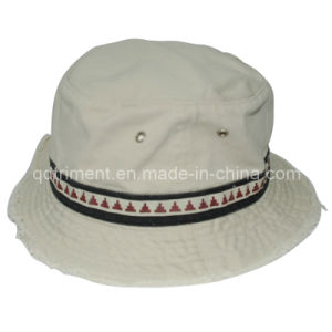 Grinding Washed Raw Edge Bill Fishing Bucket Hat (TMBH9460) pictures & photos