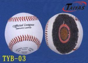 "9"" B Cowhide Leather 50% Grey Wool Baseball"