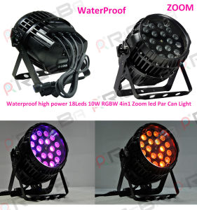 Outdoor 18X10W RGBW 4in1 LED PAR Light with Zoom pictures & photos