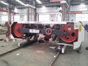 Mj3709A CNC Horizontal Saw Mills Cutting Wood Machines pictures & photos