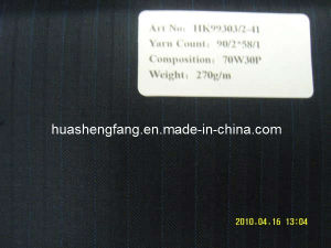 Worsted Wool Polyester Fancy Suiting, Have Ready Stock