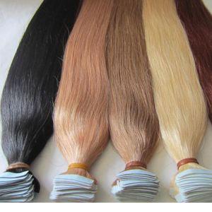PU Keratin Tape Human Hair Skin Weft Tape Hair Extensions