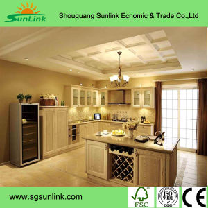Customized White Solid Wood Free Simple Kitchen Furniture pictures & photos