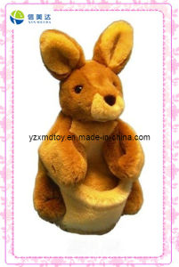 Brown Lovely Plush Rabbit Puppet (XDT-0133) pictures & photos