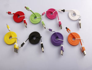 2016 Hotest 1m Noodle Micro USB 2.0 Cable (LCCB-064) pictures & photos