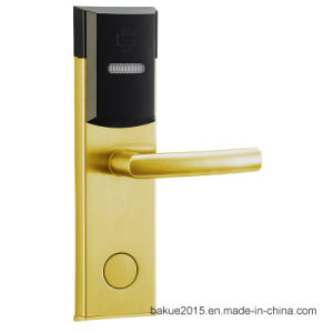 Stainless Steel Electronic Keyless Mortise Door Handle Lock for Hotel pictures & photos