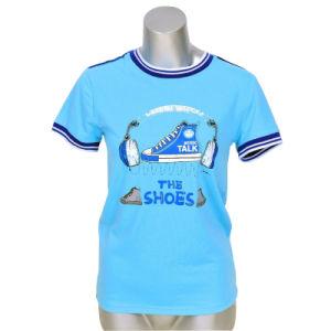 Custom Cotton Short Sleeve Women T-Shirts pictures & photos