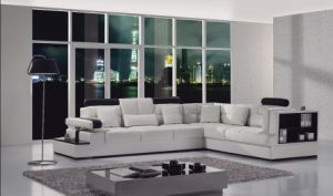 Corner Leather Sofa (T117)