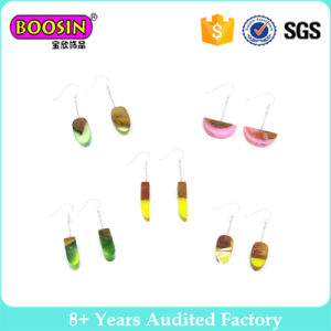 Boosin Latest Designs Health Wood Resin Wedding Earrings Fashion Jewelry pictures & photos