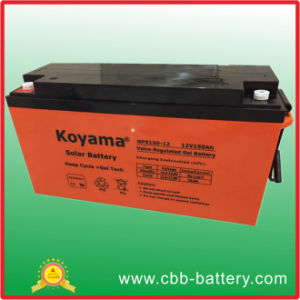 China Factory 150ah 12V Deep Cycle Gel Battery Solar Farm Battery pictures & photos