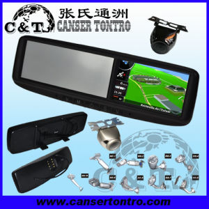 "4.3"" Car Rear View Mirror GPS LCD Monitor With Camera Kit (RVGSMDZ2)"