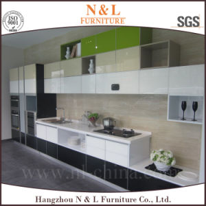 Black and White Lacquer Kitchen Cabinets pictures & photos