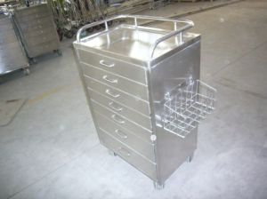 Stainless Steel Hospital Instrument Trolley (THR-MTS74) pictures & photos
