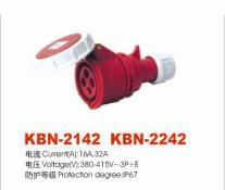 Industrial Plugs and Sockets (KBN-2142: KBN-2242)