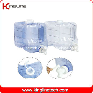 2 Gallon Rectangle Freezer Plastic Jug Wholesale BPA Free with Spigot (KL-8010) pictures & photos