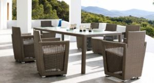 PE Rattan Wicker Outdoor Furniture Table and Chair (FP0228)
