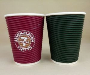 Ripple Custom Logo Printed Coffee Paper Cups/ Take out Cups