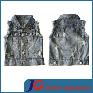 Kid Denim Vest for Girl (JT5014) pictures & photos