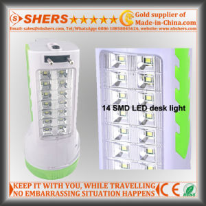 Rechargeable 1W LED Torch with 14 LED Desk Lamp (SH-1954A) pictures & photos