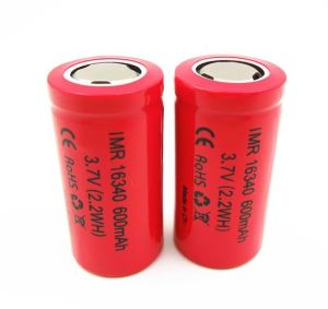 E-Cig Battery Imr16340p 3.7V 600mAh High Rate 16c