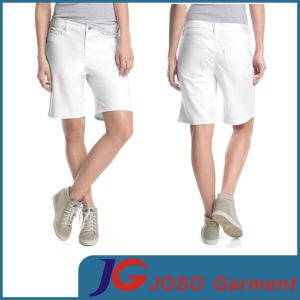 Women White Bermuda Shorts (JC6080) pictures & photos