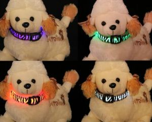 Super Bright Flashing Zebra Print Dog Collar
