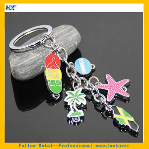 Jamaica Island Flag Tourist Sandbeach Starfish Key Ring Coconut Tree Palm Jamaica Little Charms pictures & photos