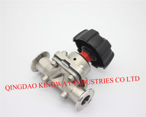 Sanitary Clamped Diaphragm Valve. pictures & photos