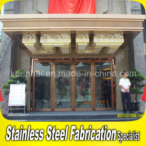 Luxury Commercial Metal Stainless Steel Glass Entry Front Door pictures & photos