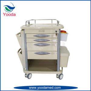 Medical Hospital Mobile Nurse Station with Drawers pictures & photos
