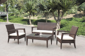 America Style PE Wicker Outdoor Chair Sofa Set (BZ-SF023)