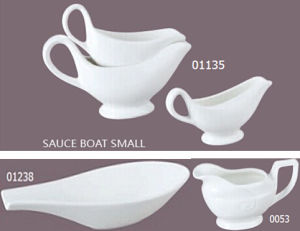 Porcelain Small Size Sauce Boat for Restaurant (01238) pictures & photos