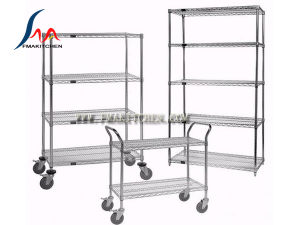 Wire Shelf/Wire Shelves, Shelving Cart, Many Size, Chrome-Plated or Stainless Steel Rack pictures & photos