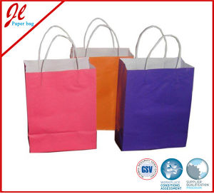 Recycled Luxury Paper Gift Bags with Paper Handle pictures & photos