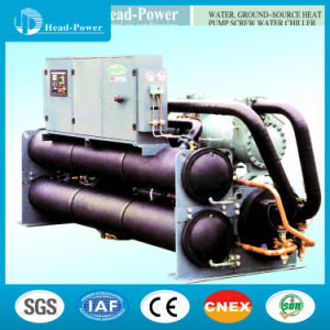 Water Cooled Screw Flooded Ground Source Heat Pump Water Chiller pictures & photos