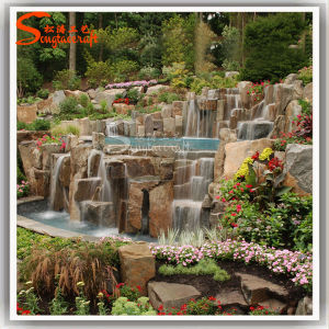 Landscape Design Ornamental Decor Stone Waterfalls Rockery pictures & photos