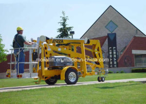 Towable Articulating Boom Lift with CE pictures & photos