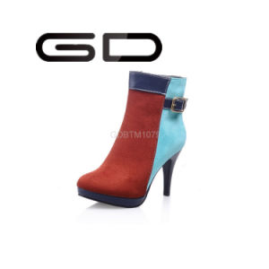 Factory Wholesale High Heel Ankle Boot Women Fashionable Point Heel Boot pictures & photos