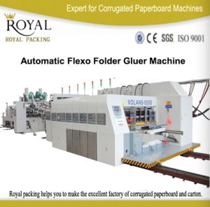 High Speed Full Automatic Printing Slotting (with Die-cutting) Machine with Inline Carton Folder Gluer pictures & photos