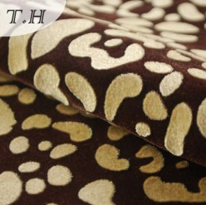 Classical Flocked Upholstery Fabric with Tc pictures & photos